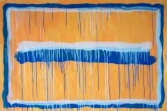 STRISCE COLANTI,  2007  Acrylic on paper,  100 x 148 cm