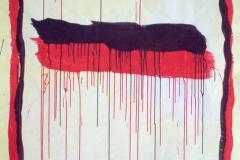 STRISCE COLANTI,  2007  Acrylic on paper,  148 x 100 cm