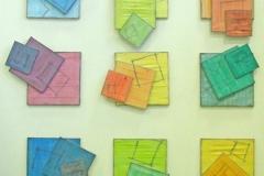 INSTALLAZIONE DI DIPINTI-SCULTURE,  2009  Acrylic on canvas,  210 x 210 cm