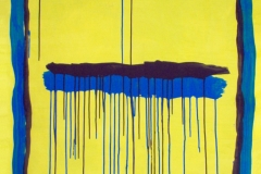 STRISCE COLANTI,  2007  Acrylic on paper,  100 x 75 cm