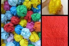MESSAGGI D'ARTE, 2020 Pen on colored paper, variable dimension